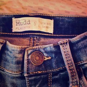 Blue distressed pants